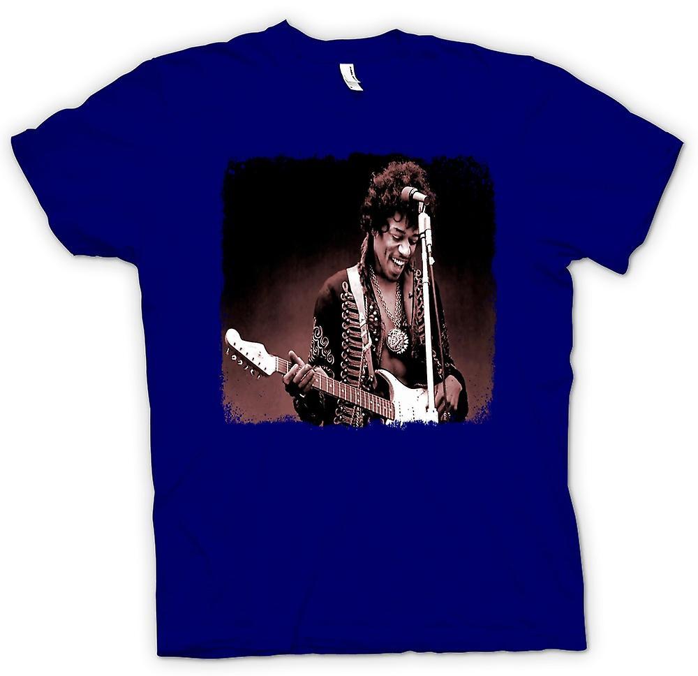 Mens T-shirt - Jimi Hendrix - Sepia - portret