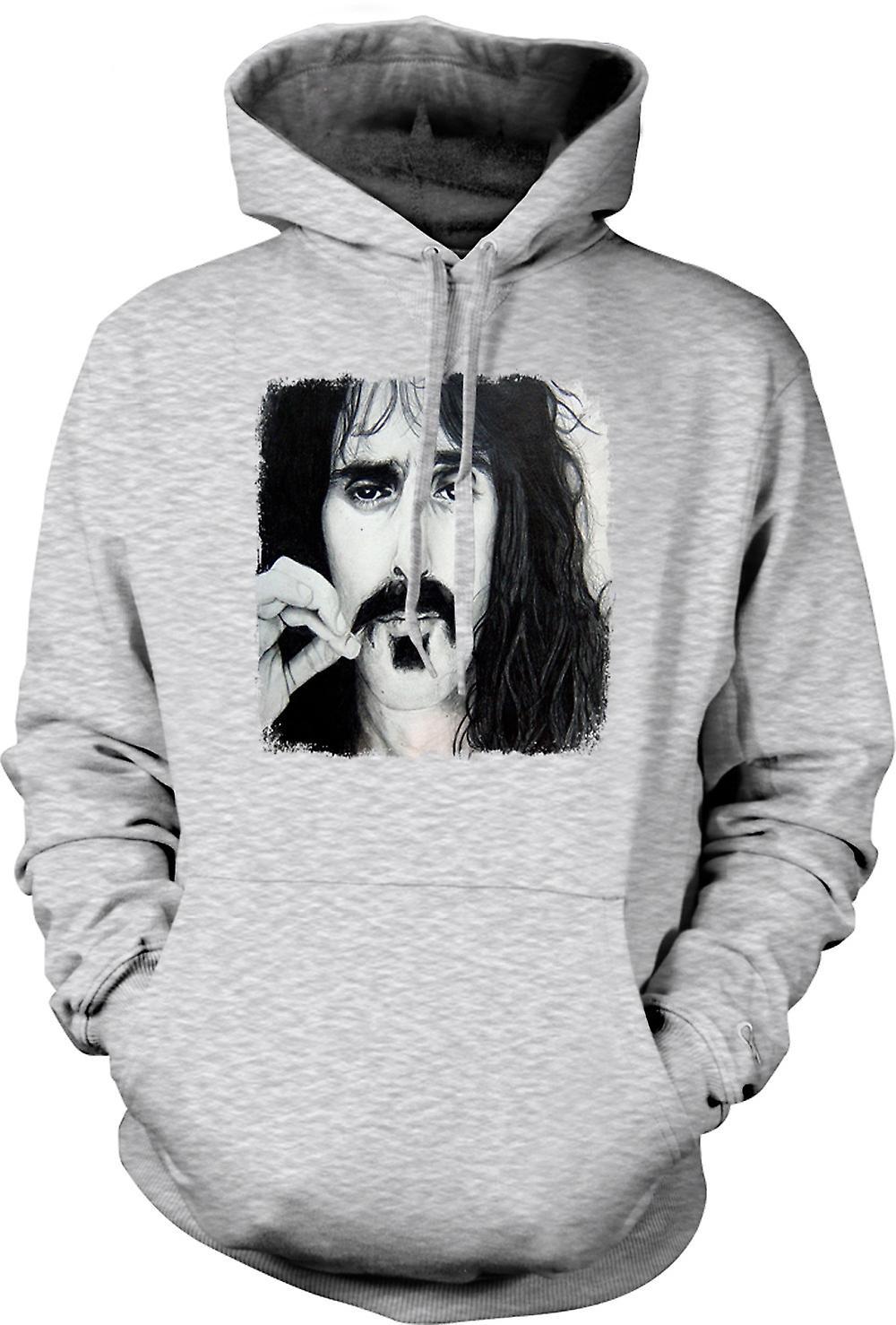 Mens Hoodie - Frank Zappa - porträtt skiss