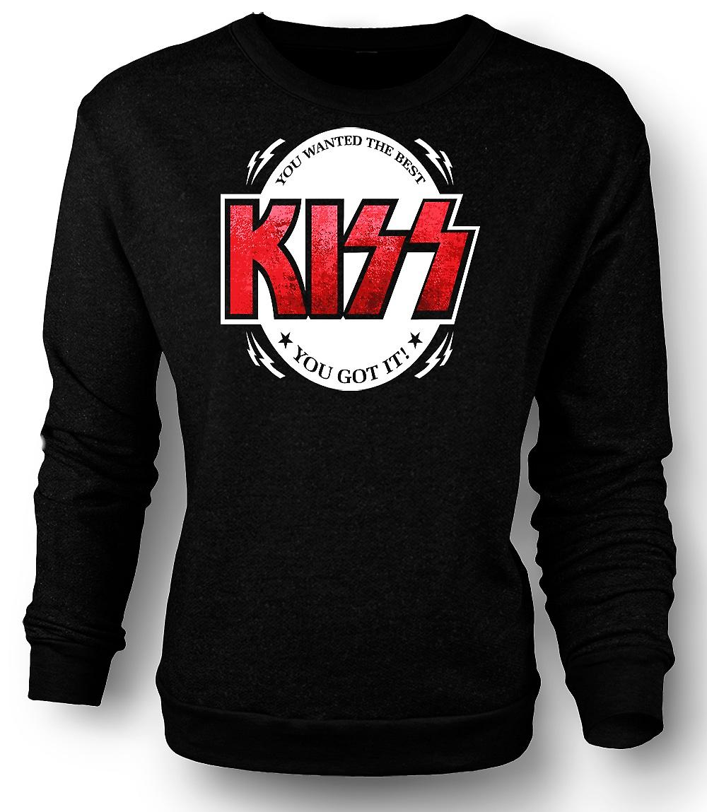 Mens Sweatshirt Kiss - du ville Best