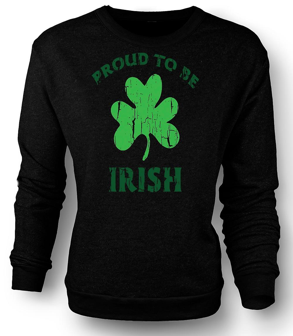 Heren Sweatshirt St Patricks Day - Proud To Be Ierse