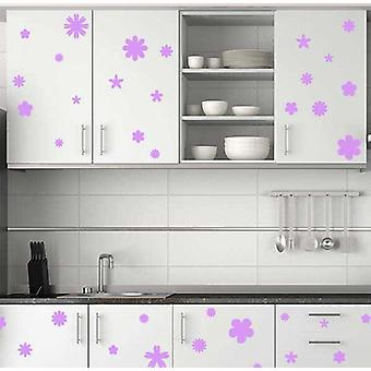 Set Of 36 Flower Wall Stickers Kitchen Cupboards