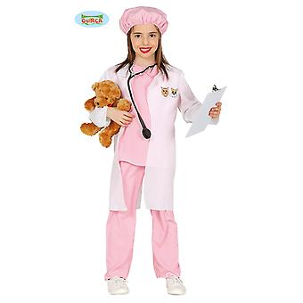 Guirca pink veterinarian costume for girls Carnival doctor