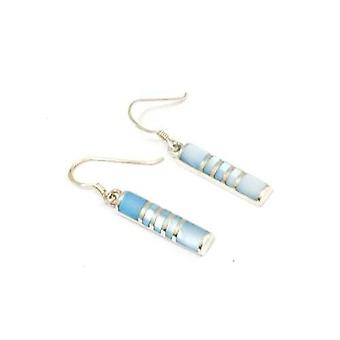 Toc Sterling Silver Blue Mother of Pearl Drop Earrings