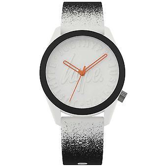 Hype | Bracelet Silicone noir/blanc | Cadran blanc | HYU009BW Watch