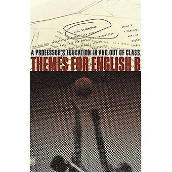 Thèmes pour anglais b: l'éducation d'un professeur dans et hors de la classe