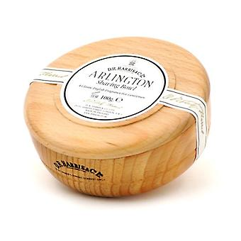 D R Harris Wooden Shaving Bowl + Soap 100g-Arlington-Beech