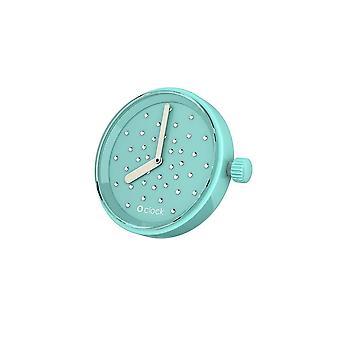 O clock clock Crystal Turquoise