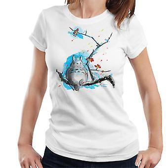 Totoro Cherry Blossom Sumie Women's T-Shirt
