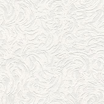 Richmond White Paintable Wallpaper Blown Vinyl Textured Embossed Belgravia