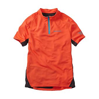 Madison Chilli Red 2017 Trail Kids MTB Short Sleeved Jersey