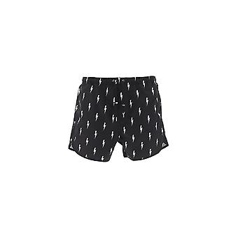 Neil Barrett Black Polyester Trunks