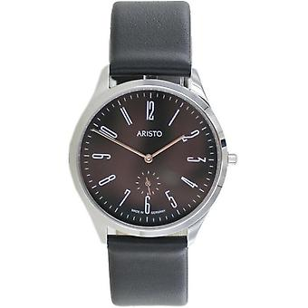 Aristo Bauhaus 1069 Men's Watch stainless steel 4H193 leather