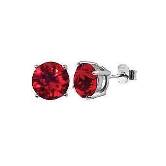 Wieczne kolekcji Starlet Lt Siam austriacki czerwony kryształ pasjans Stud Kolczyki srebro