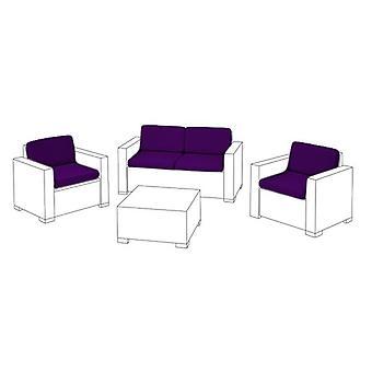 Purple 8pc Seat Cushion Set for Keter Allibert California Sofa Set