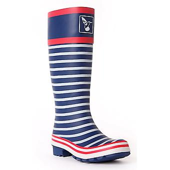 Evercreatures Ladies Bristol Wellies Striped Marine Pattern - Various Sizes