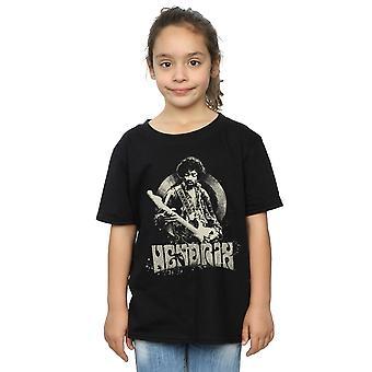 Jimi Hendrix Girls Drawing Circle T-Shirt