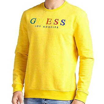 Guess Mens Jed Logo CrewNeck Sweatshirt