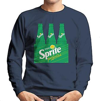 Enjoy Sprite Retro 90s Bottle Crate Men's Sweatshirt