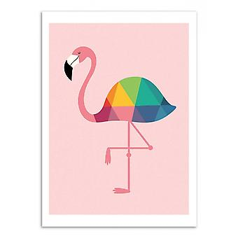 Art-Poster - Rainbow flamingo - Andy Westface 50 x 70 cm