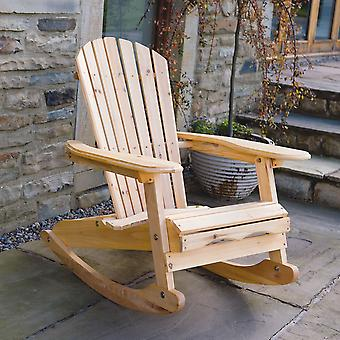 Trueshopping Bowland Adirondack Wooden Rocking Chair for Garden or Patio