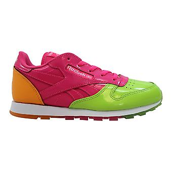 Reebok Leather Dessert Pack Green/Pink Fire-Spark BS9160 Pre-School