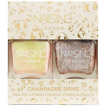 Nails inc Champagne Shine - Nail Polish Duo (10335)