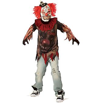 Pojkar SideShow clown Halloween maskeraddräkter kostym