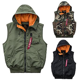 Alpha industries hooded jacket MA-1 vest