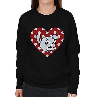 Betty Boop Pudgy Herz Poka Dot Frauen's Sweatshirt