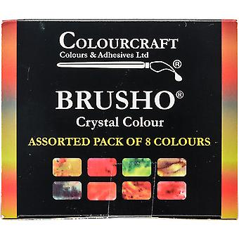Brusho Crystal Colours Set 8/Pkg- BASS08