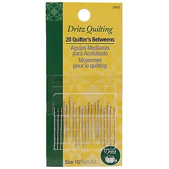 Dritz Quilting Quilter's Betweens Needles Size 10 20 Pkg 3043