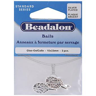Bails 10Mmx23mm 3 Pkg Silver Plated 327B 310