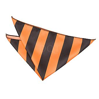 Striped Orange & Black Handkerchief / Pocket Square