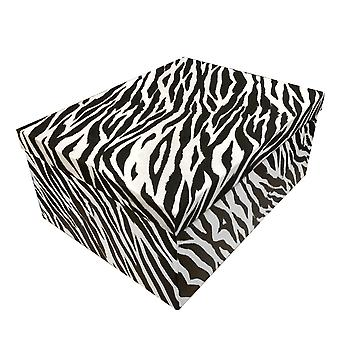 Zebra Skin Style Christmas Gift Box with Various Sizes from 12.5' x 11' x 6.5' in 10 box Set