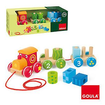 Goula Drag Train 1-2-3 - (Toys , Preschool , Babies , Push And Pull Toys)