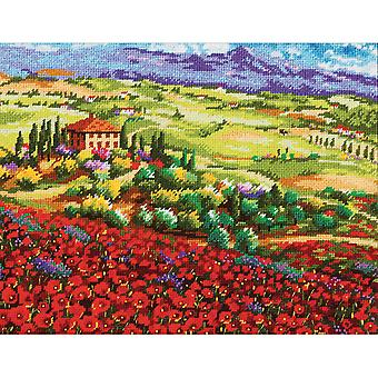 Tuscan Poppies Needlepoint Kit-14