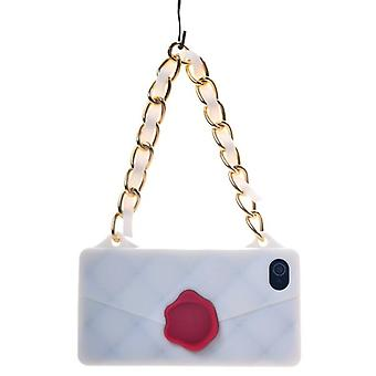 Cover silicone handbag (white)-iPhone 4/4S
