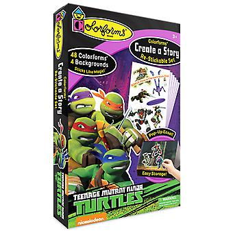 Colorforms(R) Create A Story Re-Stickable Sticker Set-Teenage Mutant Ninja Turtles COLORCAS-404