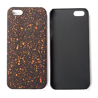 Cell phone cover case bumper shell for Apple iPhone 5 5s SE 3D star Orange