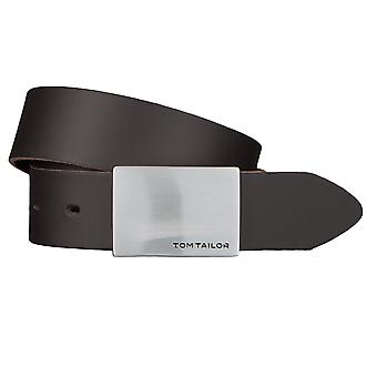 TOM TAILOR belt leather belts men's belts 3.5 cm wide Brown 2510