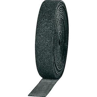 Hook-and-loop tape for bundling Hook and loop pad (L x W) 3000 mm x 16 mm Black TOOLCRAFT KL16X3000C 2 Rolls