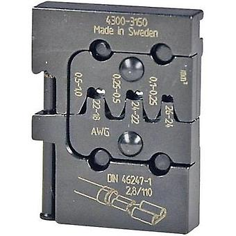 Crimp inset Non-insulated blade terminal receptacles 0.1 up to 1 mm²