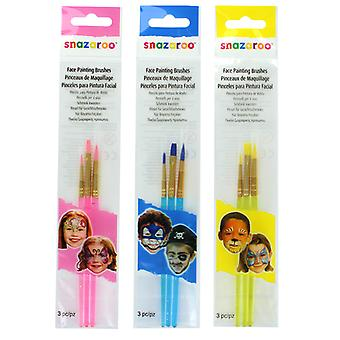 Snazaroo Set of 3 Face Painting Starter Brushes