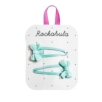 Cute Blue  Bow Clips - Rockahula