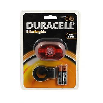 Duracell 5 LED Rear Bike Light Bright Bicycle Back Tail Warning Lamp Lights