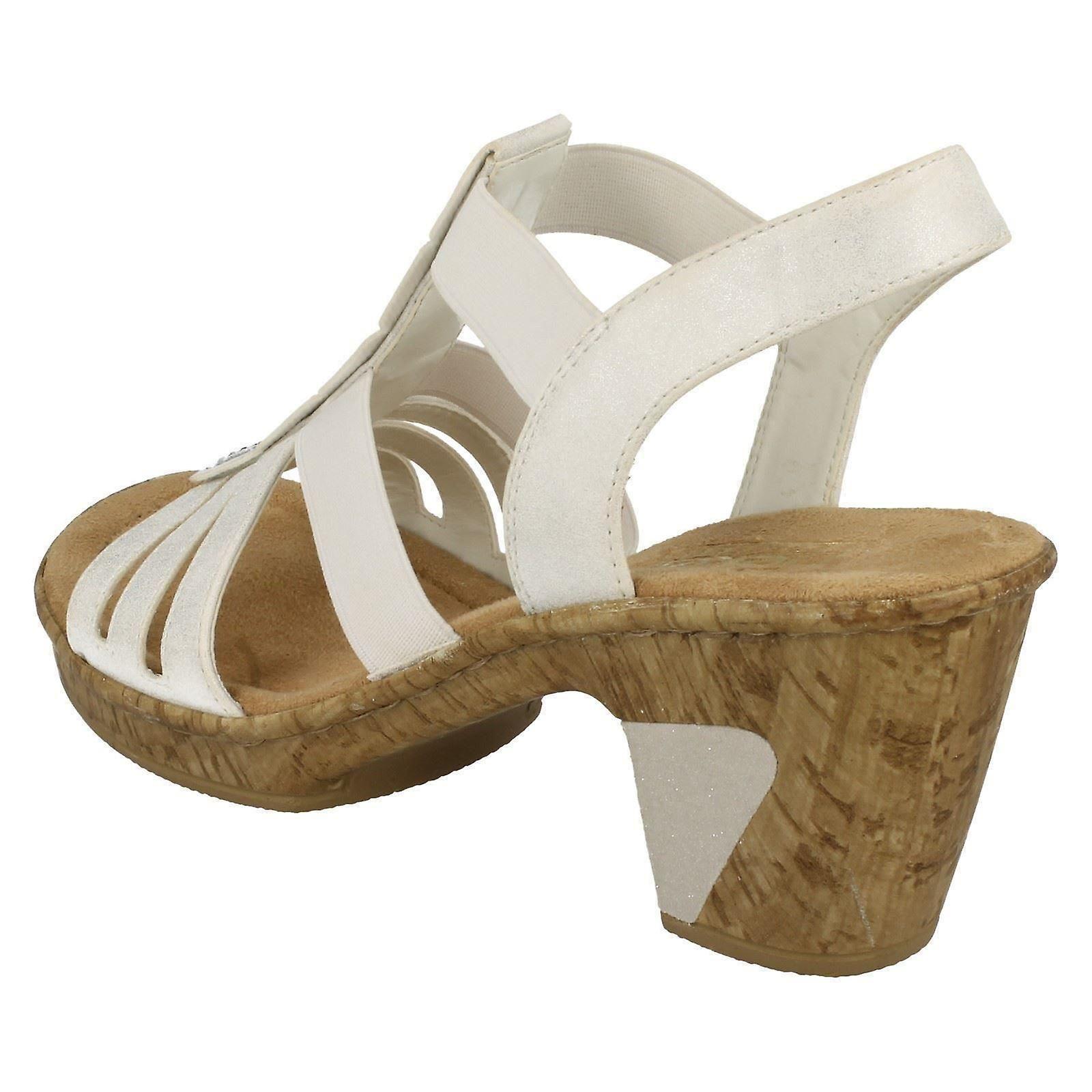 f4e8518e3d7ae Ladies Rieker Heeled Sandals 69761 | Fruugo