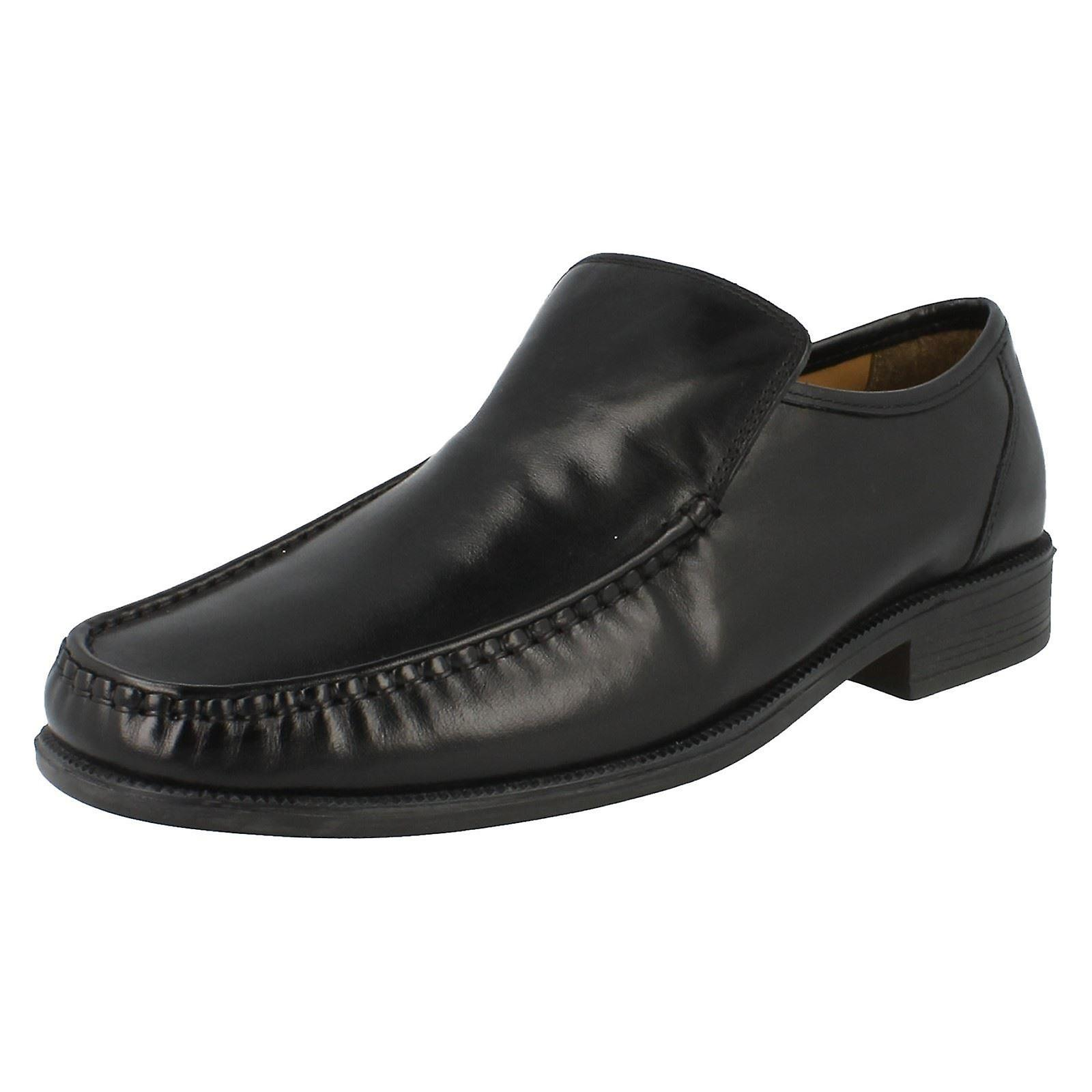 Mens Clarks Formal Slip On Leather Shoes Aston Top