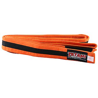 Tatami Fightwear Kinder BJJ Rang Orange/Black Belt