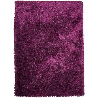 Moderne tyk lilla bløde Shaggy tæppe - Barrington