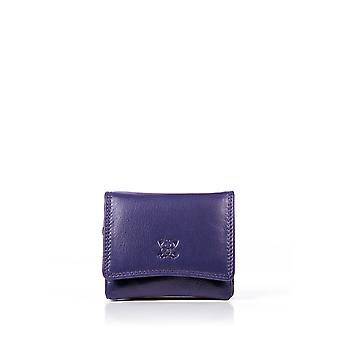 Leather Purse 10cm in Purple
